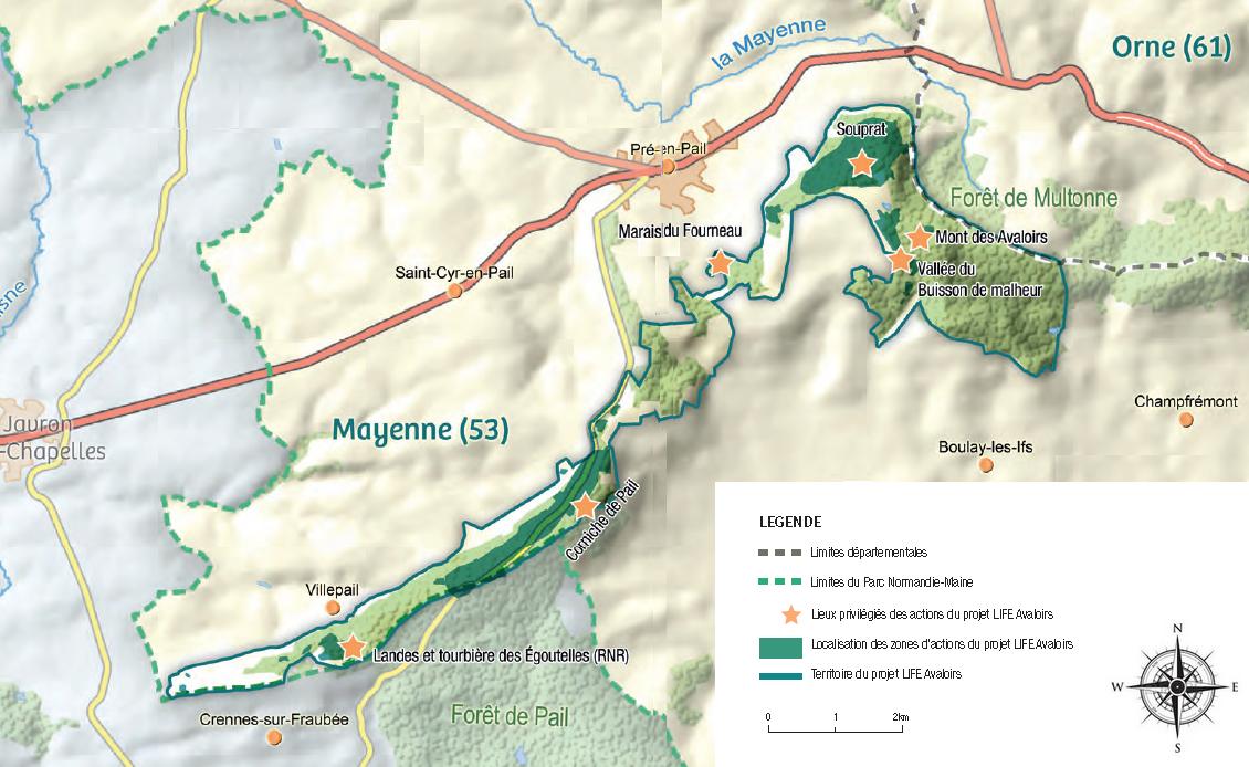 Plan de la Corniche de Pail au Mont des Avaloirs